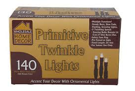 Whole Sale Home Decor Wholesale Home Decor Primitive Twinkle Lights 26 Ft Brown Cord Ebay