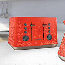 Morphy Richards Accents Red 4 Slice Toaster Shop For Toasters Appliances Kitchen Electricals Electricals