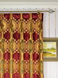 Burgundy Velvet Curtains Maia Vintage Damask Goblet Pleat Velvet Curtains