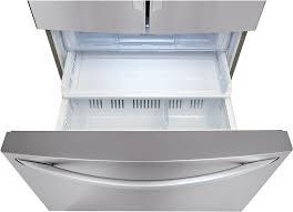 Lg French Door Counter Depth - lg lfxc24726s 36 inch counter depth french door refrigerator with