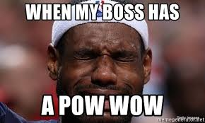 Lebron James Crying Meme - when my boss has a pow wow lebron james crying meme generator