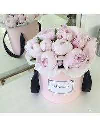 Peonies Delivery Peonies In A Pink Round Box Buy Price 105000tg Delivery And