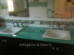 Glass Vanity Countertop Back Painted Glass By Atm Mirror And Glass Westchester County Ny