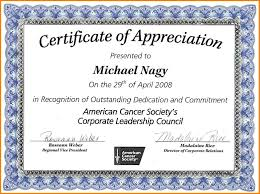 Free Online Certificate Template 10 Free Certificate Of Appreciation Templates For Word Sample