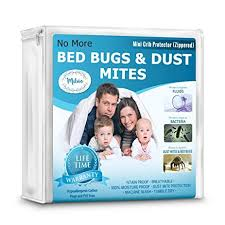 Bed Bug Crib Mattress Cover Mini Crib Mattress Protector 100 Waterproof