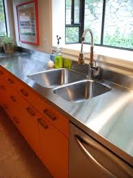 Stainless Steel Countertops Kitchen 3 Hammered Stainless Steel Kitchen Countertop Good