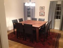 Dining Room Tables Seat 8 Square 8 Seat Dining Table In Customer39s Home Farmhouse Dining