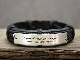 custom engraved bracelet custom mens leather bracelet anniversary gift custom engraved