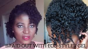 braid out natural hair defined braidout with eco styler gel on my short 4c natural hair