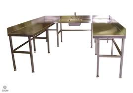 Stainless Kitchen Table by Kitchen Sinks U Shaped Stainless Steel Industrial Kitchen Table