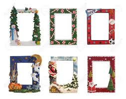 christmas halloween and sports colorful picture frames stock