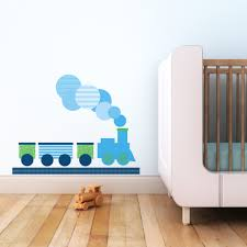 children designer wall stickers removable wall decals and stickers modern train fabric reusable wall decal