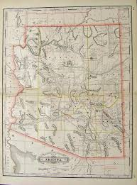 Arizona Map With Cities And Towns by Prints Old U0026 Rare Arizona Page