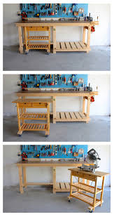 Easy Wood Workbench Plans by Diy Workbench U0026 Ikea Hack Diy Workbench Ikea Hack And Ikea Cart