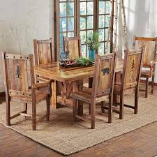 Black Wood Dining Room Table by Rustic Dining Furniture Black Forest Decor