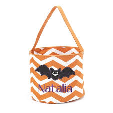 personalized trick or treat bags personalized bat trick or treat bag for kids