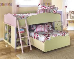 girls low loft bed bedding loft beds with desks living room sets at ashley
