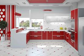 Kitchen Cabinets Red White Kitchen Red Backsplash