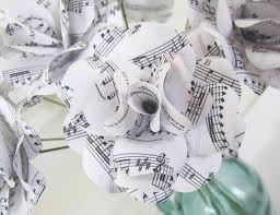 paper anniversary gift paper anniversary gift white sheet roses with your song