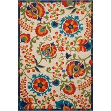 Outdoor Rug 4x6 4 X 6 Ikat Outdoor Rugs Rugs The Home Depot