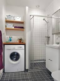 Bathroom Laundry Ideas Laundry Stacked Washed U0026 Dryer In Bathroom Next To Shower