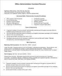 Office Assistant Resume Example by Administrative Assistant Resume Templates 6 Free Word Pdf