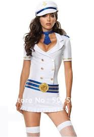 White Corset Halloween Costumes Lingerie Corset Captivating Captain Costume Sailors