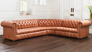 canap style chesterfield canapé de style chesterfield en cuir 3 places marron arundel
