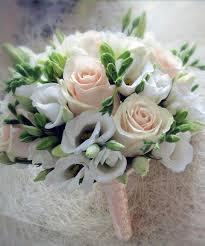 bridesmaid flowers bridal bouquet with white freesia wedding flowers traditional
