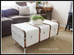 antique trunk coffee table white home decorations