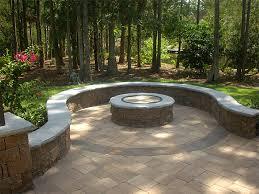 Round Brick Fire Pit Design - paver fire pit designs simple backyard paver fire pit u2013 the