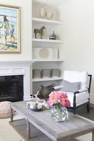 Built In Bookshelves Fireplace by Updated Living Room Interior Design Becki Owens Cococozy Built In