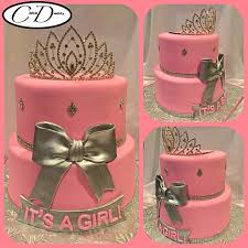 pink and silver baby shower it s a girl pink and silver princess themed baby shower cake