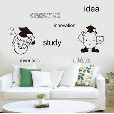 popular boys decorating ideas buy cheap boys decorating ideas lots creative idea study innovation think invention english words wall art mural decor cartoon boys girls wall