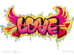 graffiti love wall stickers quotes vdte1019en artpainting4you eu graffiti love wall stickers with the word love with graffiti style design to decorate the