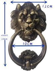 Lion Decor Home by Unilocks 12cm Large Antique Lion Doorknocker Door Knocker Lionhead