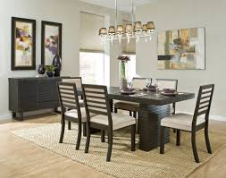 Black Dining Room Dining Room Furniture Good Looking Light Brown Rug Under The Black
