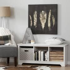 amazon com south shore vito cubby storage bench pure white