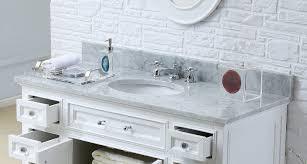 Traditional Bathroom Vanities Derby 48 Inch Traditional Bathroom Vanity Marble Countertop Solid