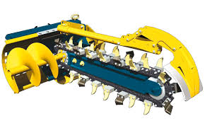 chain trencher for loaders for skid steer loaders for