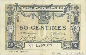 chambre de commerce de calais 50 centimes regionalism and miscellaneous calais 1920 jp