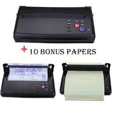tattoo thermal printer reviews amazon com new tattoo stencil machine tattoo flash thermal copier