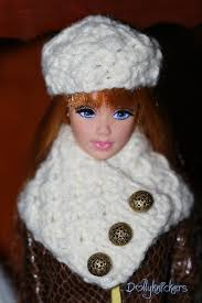 cowl neck scarf with button closure and hat to match hand knit in