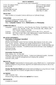 Perl Resume Sample by Information Technology Resume Examples Berathen Com