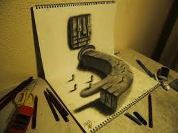 3d illusion sketches by nagai hideyuki