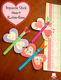 popsicle stick heart butterflies an easy valentine u0027s day craft