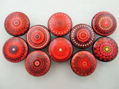 red kitchen cabinet knobs jgarts set of 25 blue and white hand painted ceramic pumpkin knobs