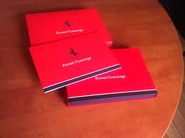 ferrari concierge membership card packaging covered in soft touch
