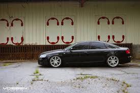 slammed audi a6 stanced audi a6 put on chrome vossen wheels u2014 carid com gallery