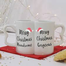 christmas hers merry christmas his and hers mug set by personalised gifts